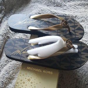 Michael Kors Jet set print flip flops